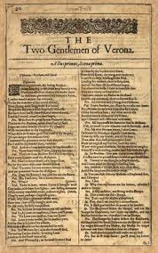 all you need to know about the two gentlemen of verona  the first edition of the two gentlemen of verona circa 1623 by william shakespeare