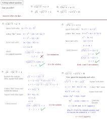 radical equations lesson plans