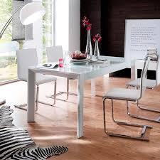 Esstisch Esszimmertisch Tisch 160x90 Ausziehbar Modern In Hochglanz