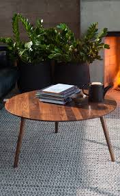 Places To Coffee Tables Modern Coffee Table In Brown Wood Round Amoeba Modern