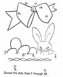 Easter Dot To Dot Coloring Activity Pages Kids Connect The Dots
