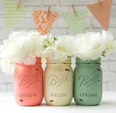 Painted Mason Jars Spring Wedding Jars Mason Jar Crafts Love