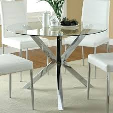 decoration round glass top dining table metal base