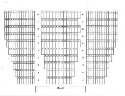 Georgian College Theatre Seating Chart Main Stage Seating Chart Performing Arts Centerperforming