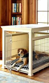 wooden dog crate table large