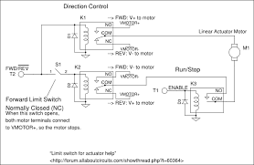 limit switch for actuator help the two inputs are fwd rev and enable the limit switch only prevents the motor from going in the forward direction