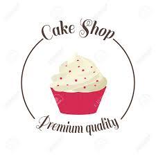 Logo Sweet Cupcake Shop Template Badge Logo For Bakery Cake