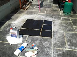 cleaning a stone patio in dorset
