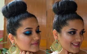 blue glitter eye makeup tutorial video