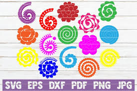 For cricut, svg will work best, for silhouette an automated instant download email will be sent to your etsy email address, which will contain your download links. 15 Rolled Paper Flowers Svg Cut Files Instant Download 219612 Cut Files Design Bundles