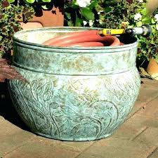 garden hose pot with lid. Garden Hose Container Pot Storage Surprising Images . With Lid