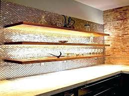 full size of floating glass shelves for soundbar wet bar with led lights 2 tier shelf