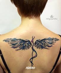 фото татуировки крылья в стиле абстракционизм авторский акварель