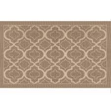 apache mills inc engravings quatrefoil tan rectangular indoor throw rug common 2