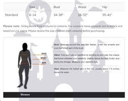 Spirit Halloween Size Chart Details About Womens Ghostly Spirit Halloween Costume Size Standard