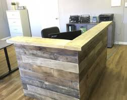 Reclaimed Wood Reception Counter, Reclaimed Wood Retail Sales Counter