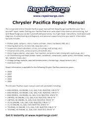 chrysler pacifica repair manual 2004 2008 2006 Pacifica Engine Diagram www repairsurge com chrysler pacifica repair manual the convenient online chrysler pacifica repair manual 2006 Chrysler Pacifica Harness Diagrams