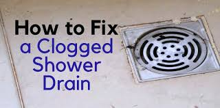 clogged shower drain standing water how to fix clogged shower dos and to table 2 mini