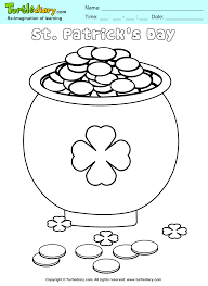 Pot Of Gold Color Sheets Pot Of Gold Coloring Sheet Turtle Diary