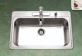 kitchen sink top view. Single Bowl Premiere Gourmet Stainless Steel Houzer/Enex Sink Kitchen Top View