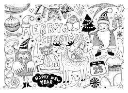 Black And White Merry Christmas And Happy New Year Set For Your