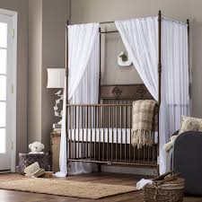 Silver Painted Bedroom Furniture Silver Polished Queen Bed With Canopy And White Curtain