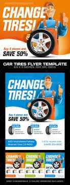 car tires car service flyer template shops cars and fonts car tires car service flyer template