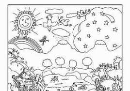 Inspirational God Creation Coloring Pages Ishagnet