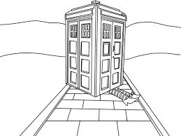 Small Picture Tardis Colouring Pages Page Bebo Pandco
