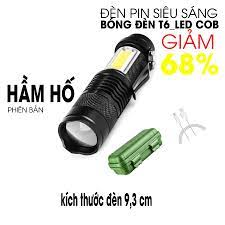 Đèn pin siêu sáng MINI ,2 trong 1 , phiên bản HẦM HỐ sac cổng usb ,co zoom  có led chớp , nhiều chế độ đèn.
