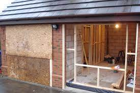 single garage conversion into bedroom with ensuite home for temporary garage conversion