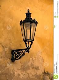 Old Gas Wall Lights Old Wall Lamp Stock Image Image Of Glass Square Eastern