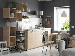 ikea lighting kitchen. Grey And White Kitchen With Light Wood Open Closed Cabinets. Ikea Lighting K
