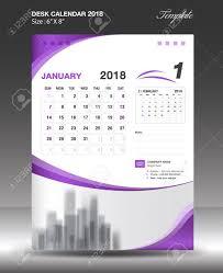 Calendar Design January 2018 Desk Calendar Design