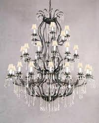 living glamorous wrought iron chandelier with crystals 22 fair stunning large french for crystal of foyer