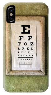Eye Chart On Phone Vintage Eye Chart Iphone X Case