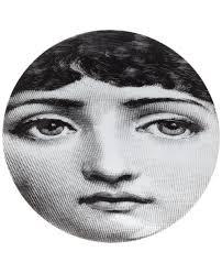 Fornasetti Art Prints Fornasetti Collection Wallpaper Fornasetti Face Print Plate White