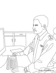 Small Picture Policeman at the police station coloring pages Hellokidscom