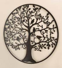 dynamic images illustration classic design circle tree leaf branch birds black awesome outside metal cast iron  on cast iron bird branch wall art with wall art classic design of cast iron wall art custom cast iron