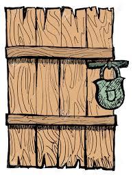 closed door clipart. Old Wooden, Closed Door With A Lock Stock Vector - 15786586 Clipart