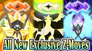 Pokemon Ultra Sun & Ultra Moon - All New Exclusive Z-Moves! (1080p HD Re...