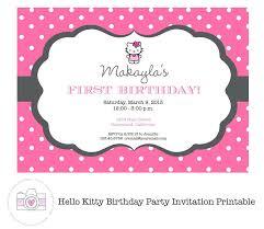 birthday invitation template free o kitty birthday invitation template free kids birthday party invitations templates 40th