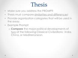 ap world writing tips the comparative essay the comparative  4 thesis