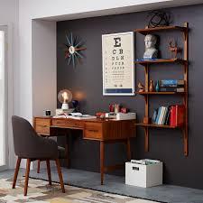 mid century modern home office. Mid Century Desk Acorn West Elm In Modern Office Furniture Plan 14 Home R