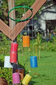 interior, Fascinating Old Tin Designed In Colorful Options Color As  Creative Homemade Windchimes Concept Hung
