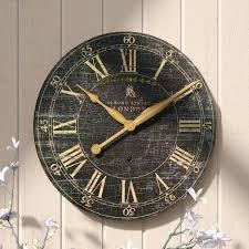 saint round wood wall clock 18 la crosse technology atomic outdoor lark manor
