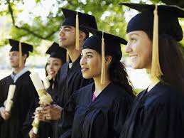 best jobs for community college graduates group of graduates diplomas on university campus differential focus
