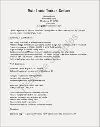 Mainframe Testing Resume Examples Free Resume Examples