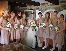 bridesmaids and guests