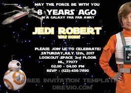 Star Wars Birthday Invitation Psd Download Editable Free